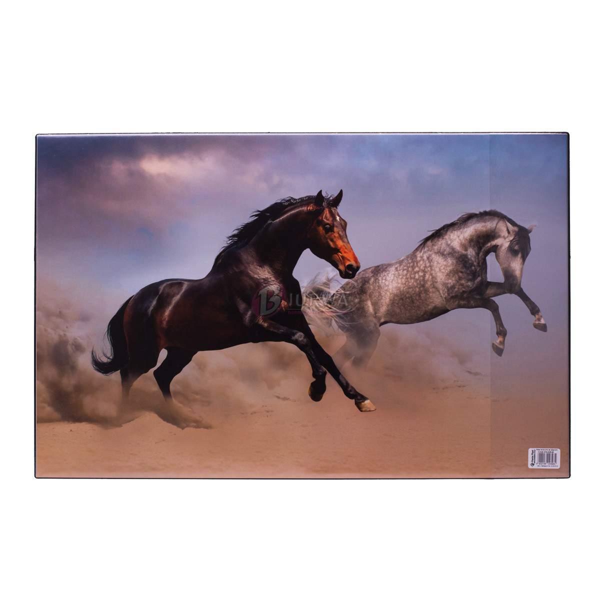 mata na biurko konie